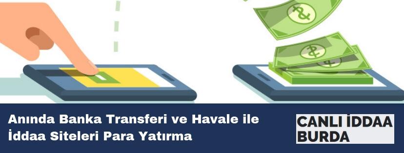 banka transferi ile iddaa sitelerine para yatırma
